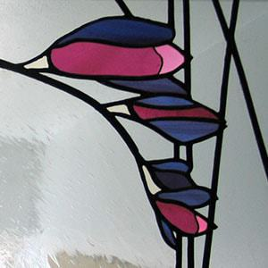 Milly Frances leaded stained glass window