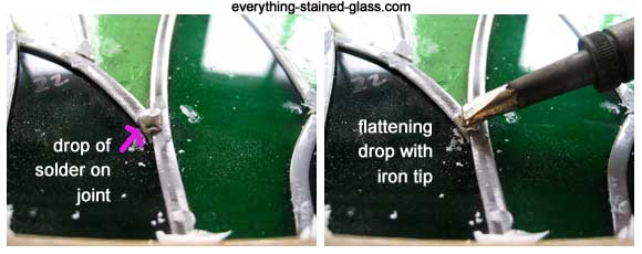 melting solder with iron