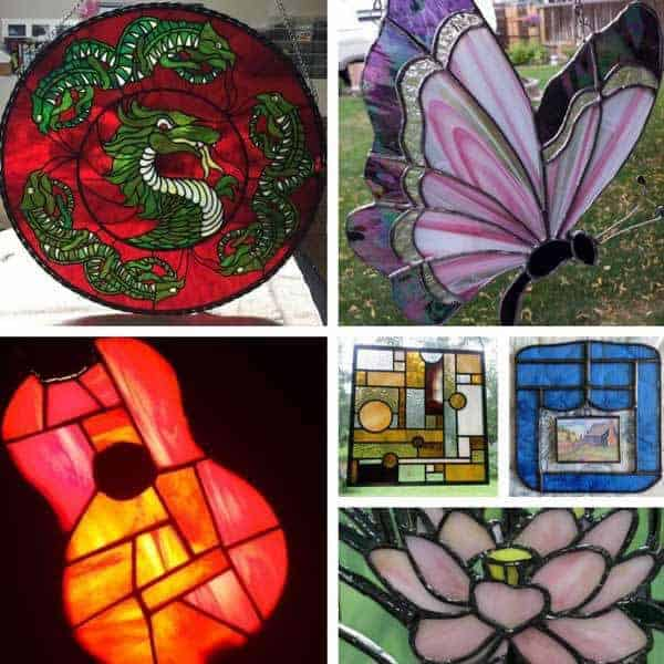 stained glass work by students