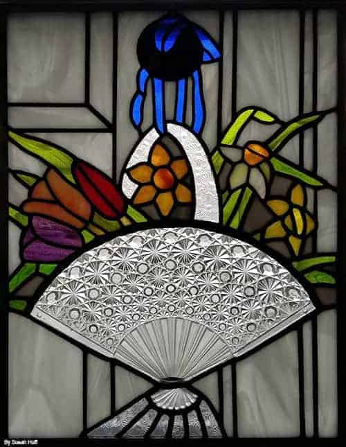 stained glass vintage plate