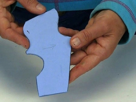 blue glass cut accurately to template