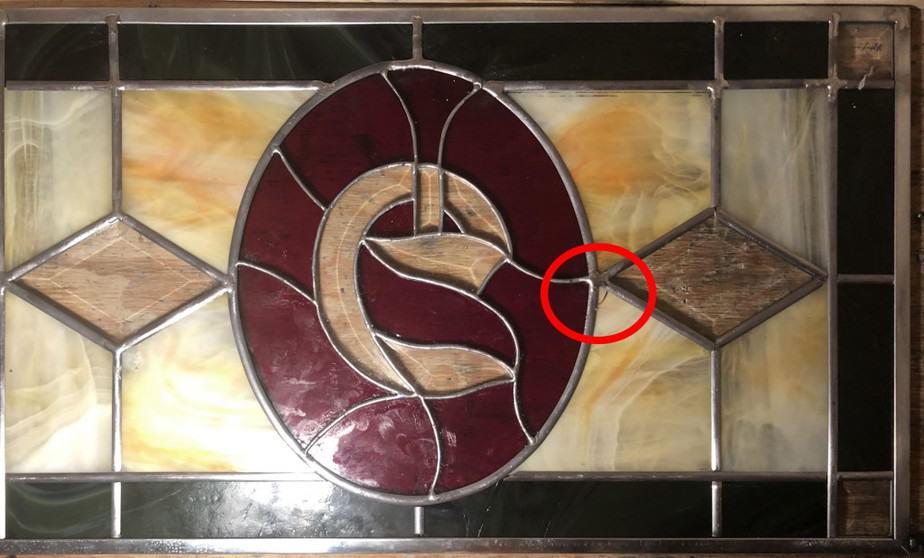 broken stained glass window